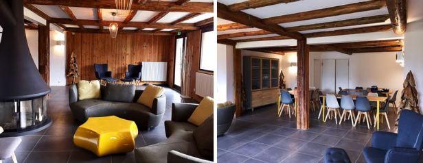 Terrasse du Mont Blanc - Salle à manger+salon